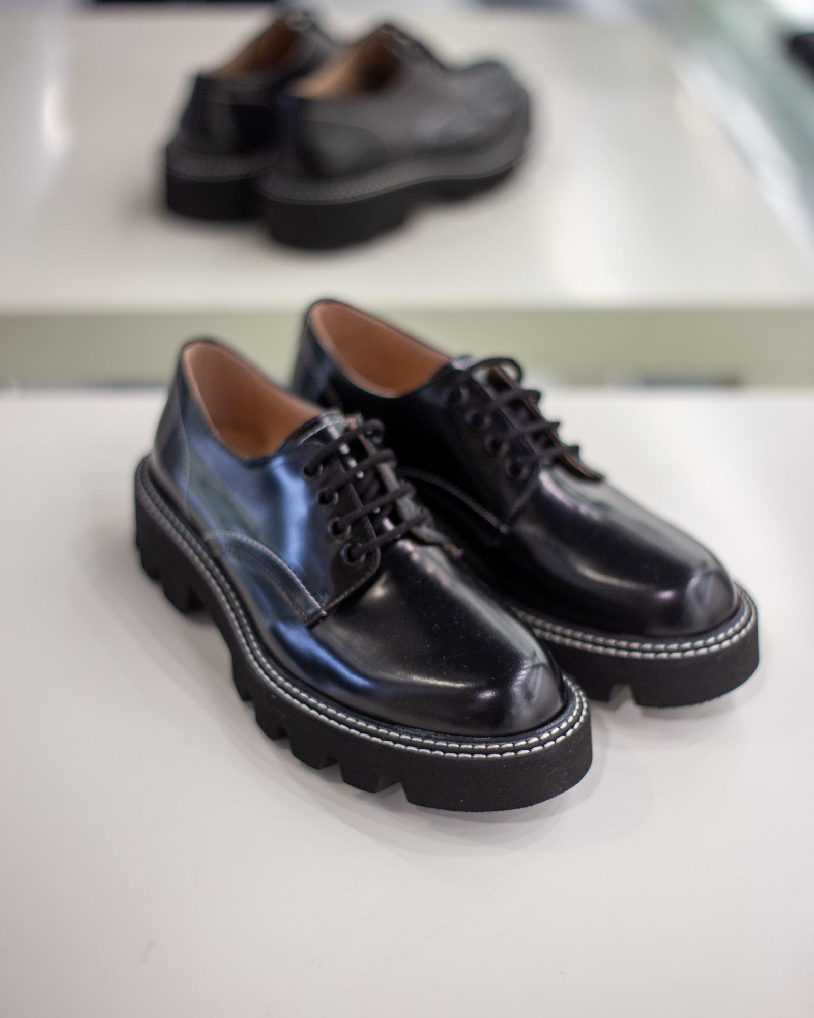 Scarpe casual nere in vernice Chiarini Bologna
