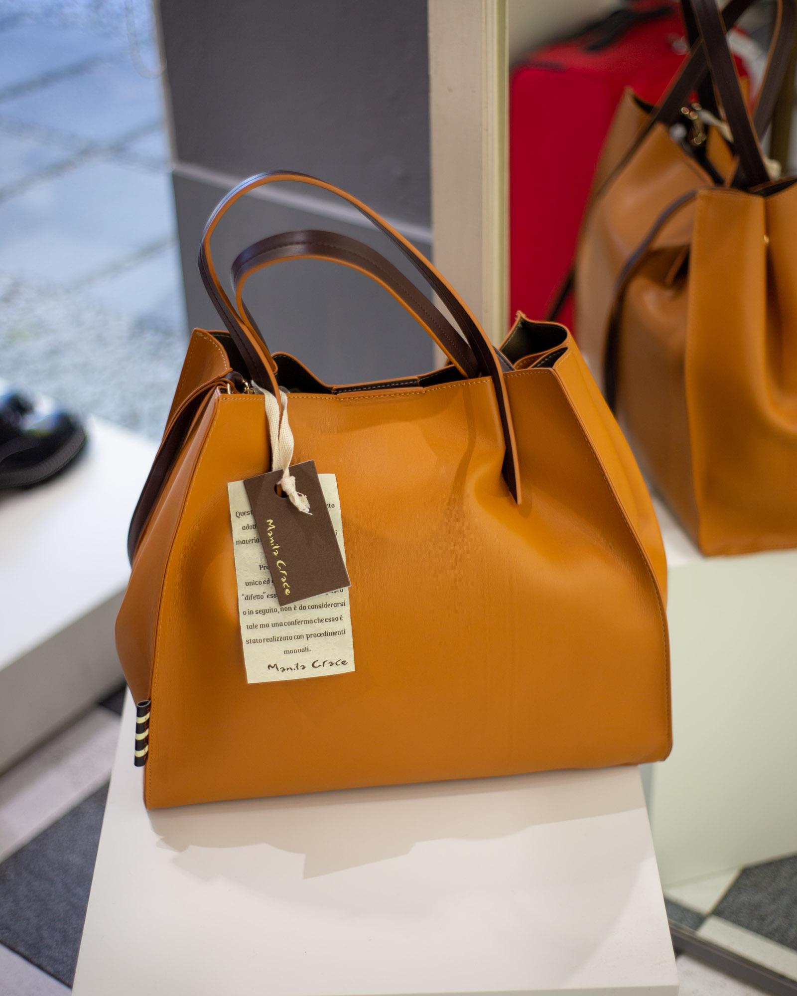 Shopper arancione Manila Grace